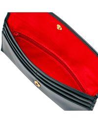 Dooney & Bourke Black Wexford Leather Slim Continental Clutch