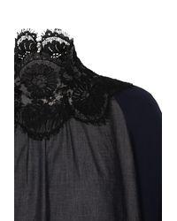 Dorothee Schumacher Blue Feminine Choice Blouse Sleeve 7/8
