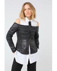 Dorothee Schumacher Multicolor Hightech Softness Off Shoulder Jacket