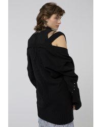Dorothee Schumacher Black Rebelious Companion Cardigan V-neck With Studs 1/1