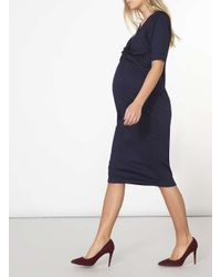 Dorothy Perkins Blue Maternity Navy Twist Front Shift Dress
