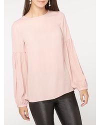 Dorothy Perkins Pink Tall Blush Balloon Sleeve Blouse