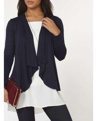 Dorothy Perkins Blue Navy Jersey Cover Up