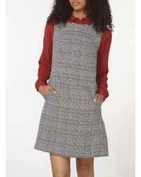 Dorothy Perkins Black Monochrome Check Sleeveless Fit And Flare Dress