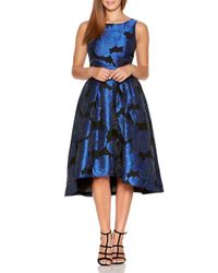 Dorothy Perkins - Quiz Royal Blue Jacquard Dress - Lyst