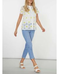 Dorothy Perkins White Daisy Floral Lace Shirt