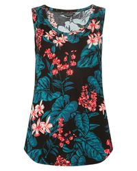Dorothy Perkins Black Tropical Print Vest