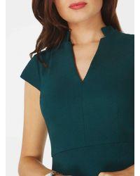Dorothy Perkins Green Short Sleeve Pencil Dress
