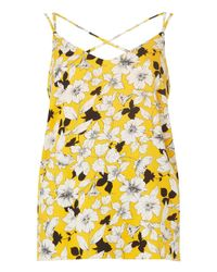 Dorothy Perkins - Orange Ochre Floral Print Sport Camisole Top - Lyst