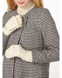 Dorothy Perkins - Natural Cream Fingerless Gloves - Lyst