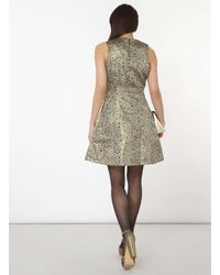 Dorothy Perkins Metallic Vero Moda Gold Peacock Prom Dress
