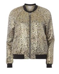 Dorothy Perkins Metallic Vero Moda Gold Peacock Bomber Jacket