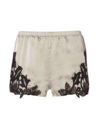 Dorothy Perkins Gray Vero Moda Satin And Lace Shorts