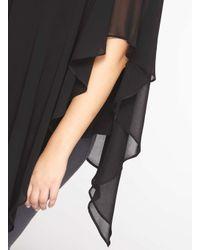 Dorothy Perkins   Billie & Blossom Curve Black Overlay Top   Lyst