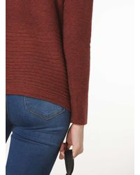 Dorothy Perkins Red Only Rust Ribbed Jumper