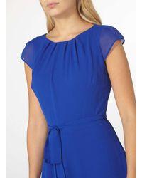 Dorothy Perkins Blue Billie And Blossom Cobalt Chiffon Dress