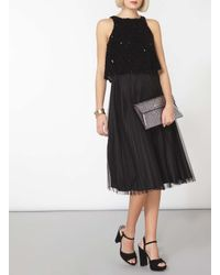 Womens Luxe Pop Over Tulle Prom Dress Dorothy Perkins GYaN4P