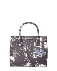 Dorothy Perkins Blue Navy Floral Mini Slip Tote Bag