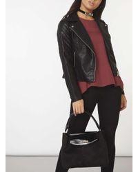 Dorothy Perkins Black Double Flap Tote Bag
