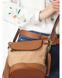 Dorothy Perkins Brown Tan Drawstring Duffle Bag