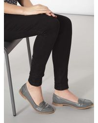 Dorothy Perkins Gray Grey Patent 'lily' Loafers