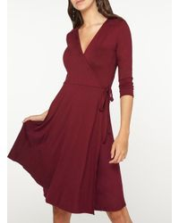 Dorothy Perkins - Tall Wine Red Jersey Wrap Dress - Lyst