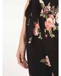 Dorothy Perkins Tall Black Floral Print Joggers