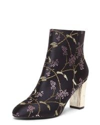 Dorothy Perkins | Black 'alyce' Jacquard Ankle Boots | Lyst