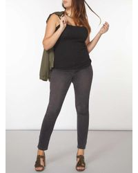 Dorothy Perkins - Gray Dp Curve Grey Fly Front Jeggings - Lyst