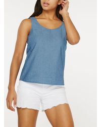 Dorothy Perkins Only Blue Chambray Top