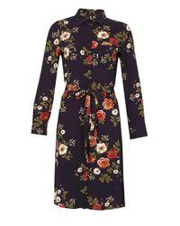Dorothy Perkins Blue Izabel London Multi Navy Shirt Dress