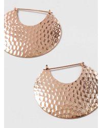 Dorothy Perkins - Pink Large Rose Gold Texture Hoop Earrings - Lyst
