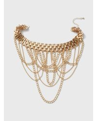 Dorothy Perkins | Metallic Gold Chain Choker Necklace | Lyst
