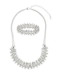 Dorothy Perkins   Metallic Crystal Necklace And Bracelet Set   Lyst