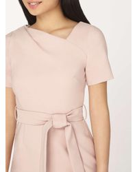Dorothy Perkins Pink Petite Blush Short Sleeve Shift Dress