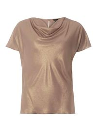 Dorothy Perkins Brown Bronze Shimmer Cowl Neck Top