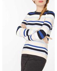 Dorothy Perkins Blush And Blue Stripe Jumper