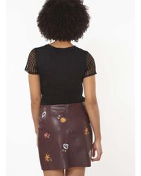 Dorothy Perkins Black Spot Mesh Lace T-shirt