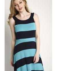 Dorothy Perkins Blue Roman Originals Turquoise Stripe Dress
