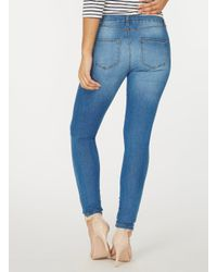 Dorothy Perkins Blue 'ashley' Stretch Skinny Fit Jeans
