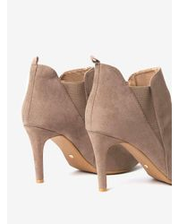 Dorothy Perkins White Lily & Franc Taupe 'jodie' Ankle Boots