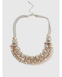 Dorothy Perkins - Gray Ball And Space Collar Necklace - Lyst