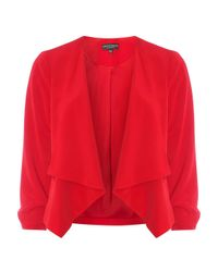 Dorothy Perkins Red Soft Waterfall Jacket