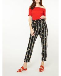Dorothy Perkins - Black Striped Daisy Trousers - Lyst