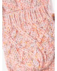 Dorothy Perkins Pink Neppy Fingerless Gloves