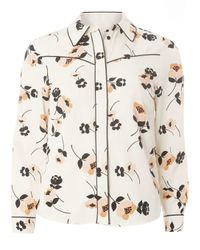 Dorothy Perkins - White Petite Floral Western Shirt - Lyst