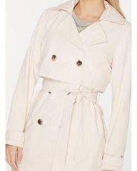Dorothy Perkins Natural Vila Blush Tie Waist Trench Coat