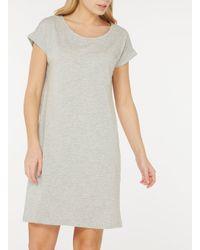 Dorothy Perkins Gray Vila Grey Pocket T-shirt Dress