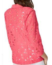 Dorothy Perkins Roman Originals Pink Lace Jacket