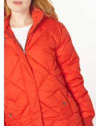 Dorothy Perkins - Red Diamond Padded Coat - Lyst